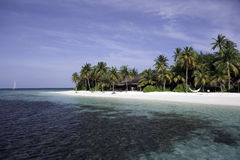 Tropical beach with coral reef royalty free stock photo