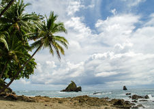 Tropical Beach - Costa Rica Royalty Free Stock Photography