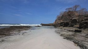 A tropical beach in Costa Rica. View of a tropical beach in Costa Rica stock footage