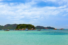 Tropical beach Cote d'Or - island Praslin Seychelles Stock Image