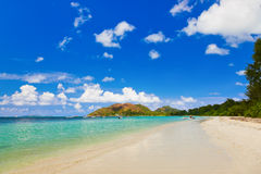 Tropical beach Cote d'Or - island Praslin Seychelles Stock Photos