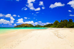 Tropical beach Cote d'Or at Seychelles Royalty Free Stock Image