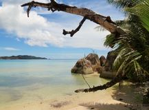 Tropical Dream Beach Paradise. Tropical Beach the Anse lazio Mahe Island Seychelles Stock Photography