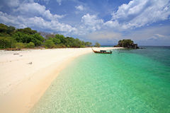 Tropical beach with crystal Andaman sea at Koh Khai near Koh Lipe Stock Image