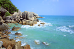 Tropical Beach Crystal Bay. Koh Samui island. Royalty Free Stock Image