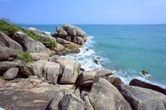 Tropical Beach Crystal Bay. Koh Samui island Royalty Free Stock Photo