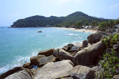 Tropical Beach Crystal Bay. Koh Samui Stock Photo