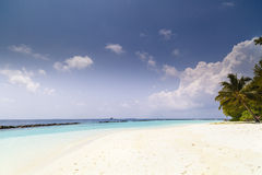 Tropical beach with crystal clear water Stock Image