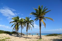 Tropical beach. Cuba - Havana beach. Stock Photos