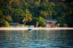 Tropical beach at Curieuse island Seychelles Stock Image