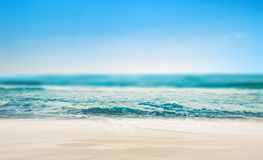 Tropical beach defocused background Royalty Free Stock Photography