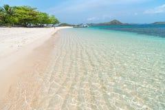 Tropical beach on the Dibutonay Island, Busuanga, Palawan royalty free stock image