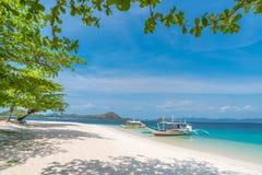 Tropical beach on the Dibutonay Island, Busuanga, Palawan stock photo