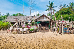 Tropical Beach Dining Stock Image