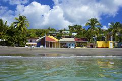 Tropical beach in Dominica, Caribbean Royalty Free Stock Photos