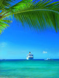 Tropical beach in Dominican republic. Caribbean sea Royalty Free Stock Images