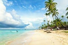 Tropical beach in Dominican Republic. Stock Photo