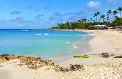 Tropical beach in Dominican Republic. Royalty Free Stock Images