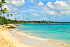 Tropical beach in Dominican Republic. Royalty Free Stock Image