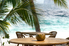 Tropical beach drink Royalty Free Stock Image