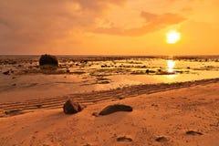 Sunset sea ebb Stock Photos