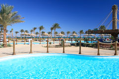 Tropical beach. Egypt Sharm el Sheikh. Royalty Free Stock Image