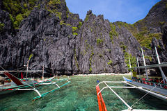 Tropical beach in El Nido, Philippines Stock Images