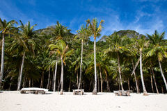 Tropical beach in El Nido, Philippines Royalty Free Stock Photos