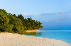 Tropical beach at evening Stock Photography