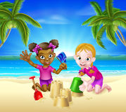 Tropical Beach Family Holiday Stock Photo