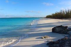 Tropical beach in an island of Bahamas royalty free stock photos