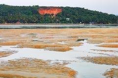 Tropical beach with fishing boats in Goa, India. Tropical beach with fishing boats, Mobor Beach, South Goa, India Stock Photos