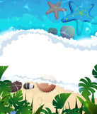 Tropical beach frame Royalty Free Stock Images