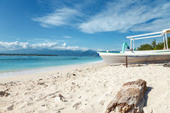 Tropical beach on Gili Trawangan, Indonesia Stock Photo