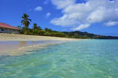 Tropical beach in Grenada, Caribbean Royalty Free Stock Images
