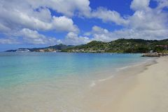 Tropical beach in Grenada, Caribbean Royalty Free Stock Images