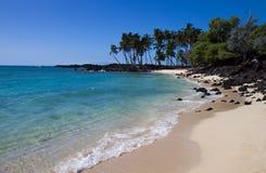 Tropical beach (Hawaii/USA). Beach on Big Island / Hawaii Stock Photos