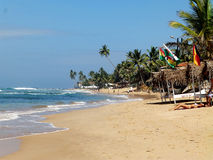 Tropical beach in Hikkaduwa. Sri Lanka Royalty Free Stock Image