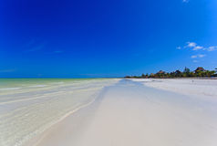 Tropical beach in Holbox island, Mexico Royalty Free Stock Photography