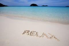 Tropical beach holiday Stock Photo
