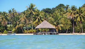 Tropical beach home paradise Royalty Free Stock Image
