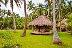 Tropical Beach Hotel Cottage stock photos