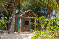Tropical beach house. In Thailand Royalty Free Stock Photos