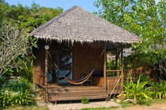 Tropical beach house Stock Images