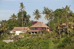 Tropical beach house on the island Bali, Indonesia Royalty Free Stock Photos