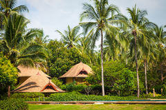 Tropical beach house on the island Koh Samui, Thailand Royalty Free Stock Image