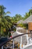 Tropical beach house on the island Stock Image
