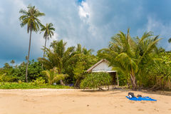 Tropical beach. House in Thailand Royalty Free Stock Photography