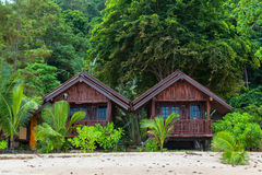 Tropical beach house Stock Image