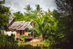 Tropical beach house in Thailand Stock Photo